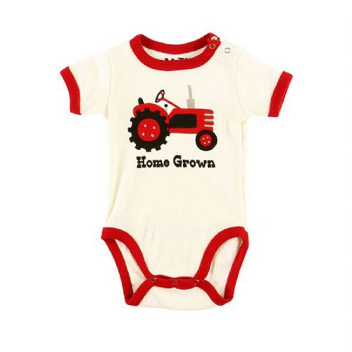 LazyOne 'Home Grown' Babygrow Vest